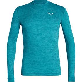 SALEWA Puez Melange Dry Longsleeve T-shirt Heren, ocean melange
